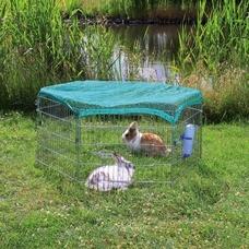 Freilaufgehege mit Netz für Kleintiere