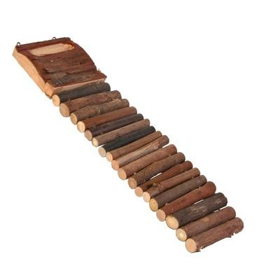 Hamsterleiter mit Futternapf aus Holz