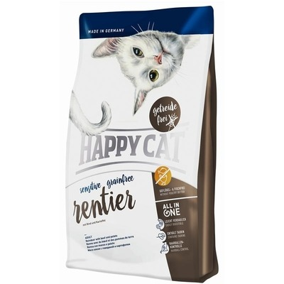 Happy Cat Sensitive Grainfree Rentier Katzenfutter