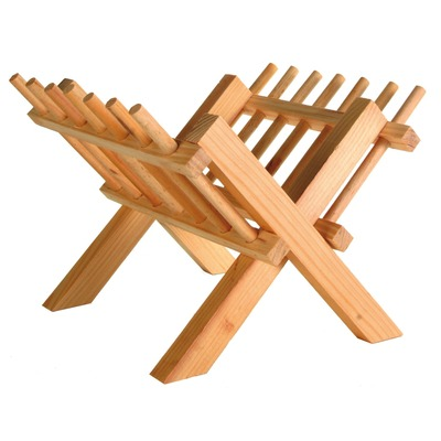 Kleintier Heuraufe zum Aufstellen aus Holz
