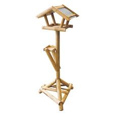 Holz Vogel Futterhaus mit Bitumdach auf Ständer
