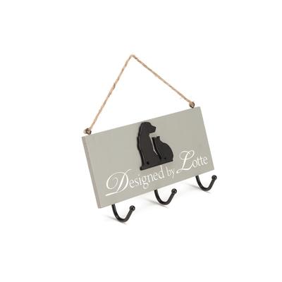 Holzschild zum Aufhängen - Designed by Lotte