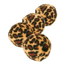 4 Katzen Spielbälle Leopardenmuster
