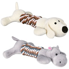 Hund Plüschtier mit Seil