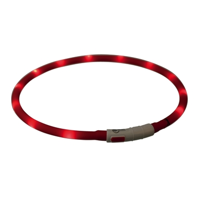 Hunde Leuchthalsband Leuchtring USB
