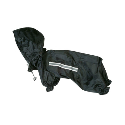 Hunde Regenmantel Safety Black