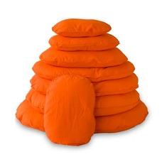 Hundekissen Bezug oval orange