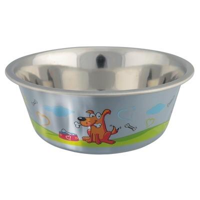 Hundenapf aus Edelstahl mit Kunststoffmantel