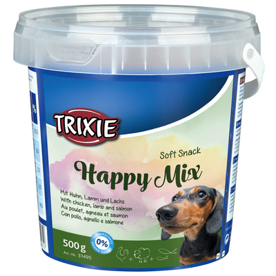 Hundesnack Happy Mix im Eimer
