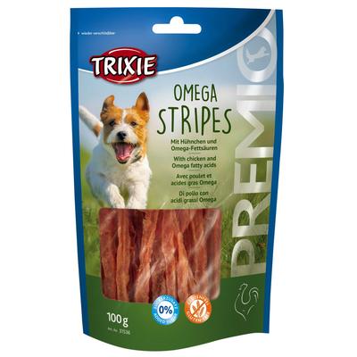 Hundesnack Omega Stripes mit Hühnchen