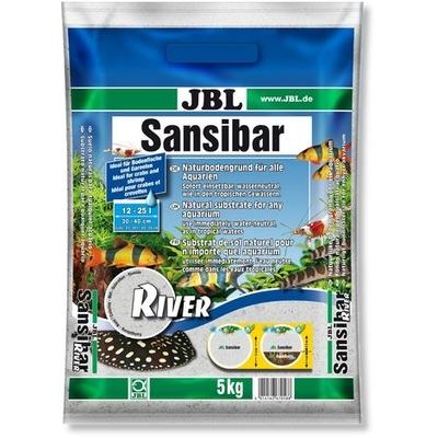 JBL Sansibar RIVER feiner Bodengrund mit schwarzen Steinchen für Süß- und Meerwasser-Aquarien und Terrarien