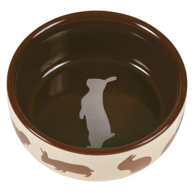 Kaninchennapf mit Motiv aus Keramik