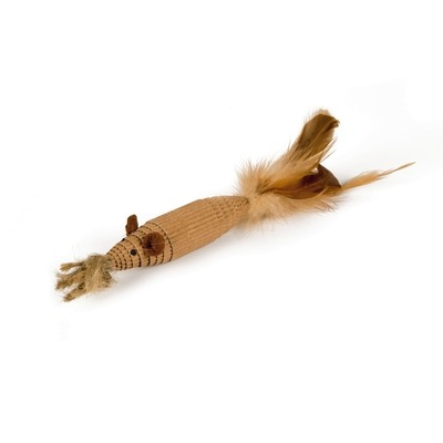 Beeztees Katzenspielzeug Zoof aus Pappe mit Federn