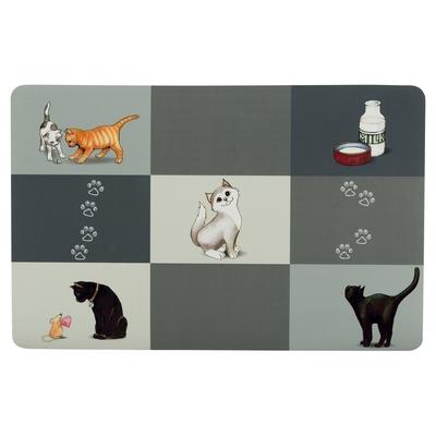 Katzen Napfunterlage Patchwork Cat