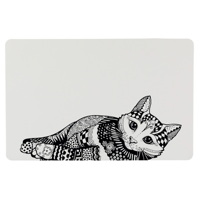 Katzen Napfunterlage Zentangle