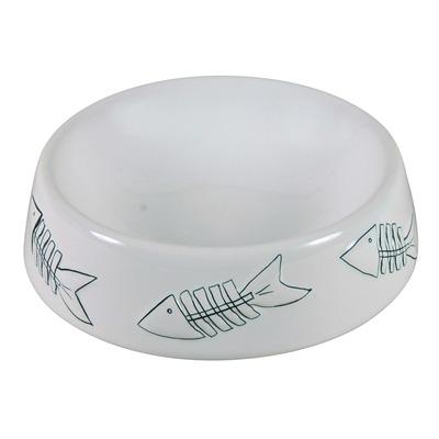 Keramik Napf für Katzen, weiß