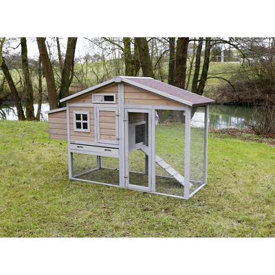 h hnerstall natura mit freilaufgehege 55961 von trixie g nstig bestellen. Black Bedroom Furniture Sets. Home Design Ideas