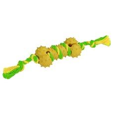 Knochen am Seil aus Gummi und Baumwolle