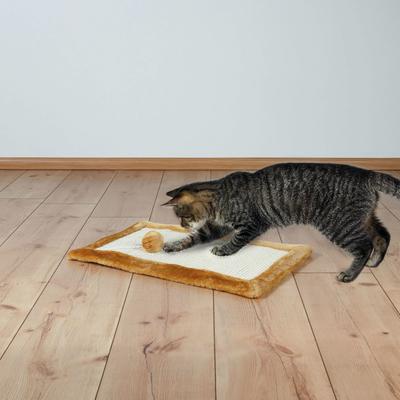 Kratzmatte mit Plüsch für Katzen