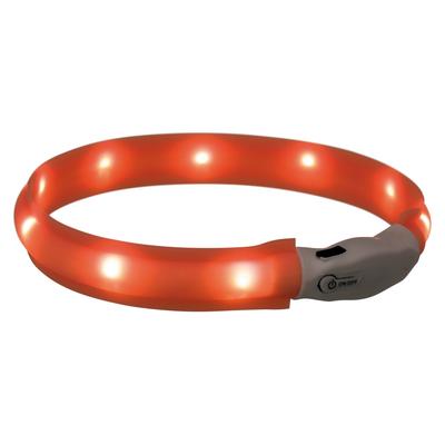 Leuchtband für Hunde USB orange