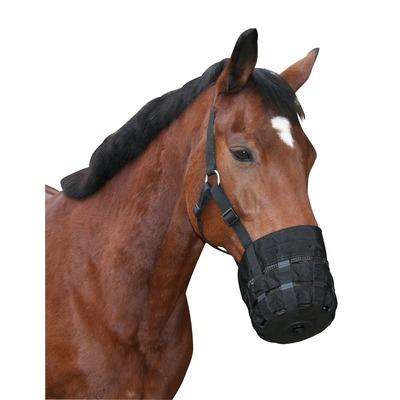 Kerbl Pferde Maulkorb mit Halfter, Fressbremse aus Nylon