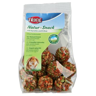 Trixie Pure Nature Natur-Snack Bällchen für Kleintiere