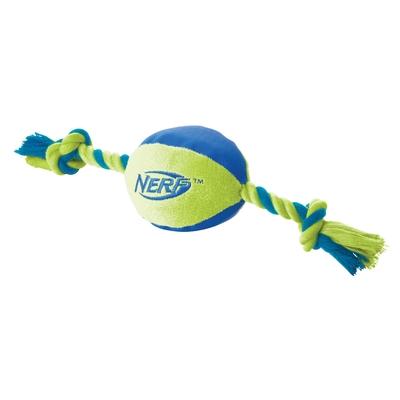 NERF Dog Ultraplush Football mit Tau und Squeaker