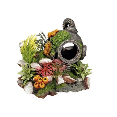 Nobby Aqua Ornaments Helm mit Pflanzen