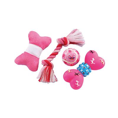Nobby Welpen Spielzeug Starter Set rosa