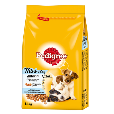 Pedigree Junior Mini mit Huhn & Reis