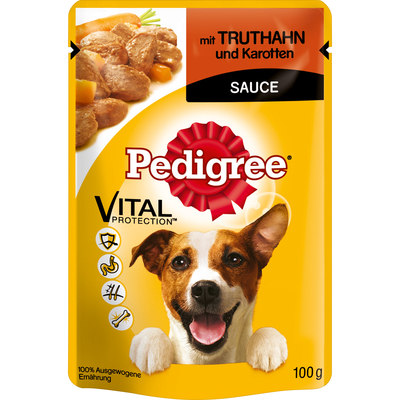 Pedigree - Truthahn & Karotten im Portionsbeutel