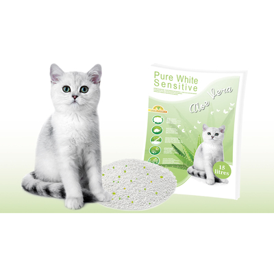 Pure White Sensitive Katzenstreu Aloe Vera