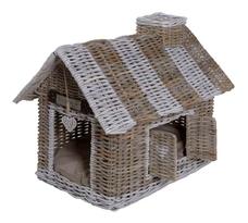 Rattan Villa für Hunde und Katzen