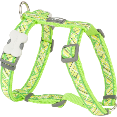 Red Dingo Hundegeschirr Design Flanno Lime Green