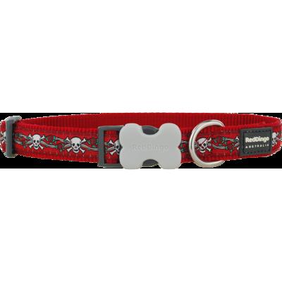 Red Dingo Hundehalsband Design Skull Red