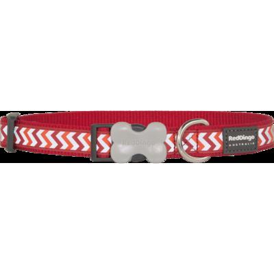 Red Dingo Hundehalsband Reflective Ziggy Red