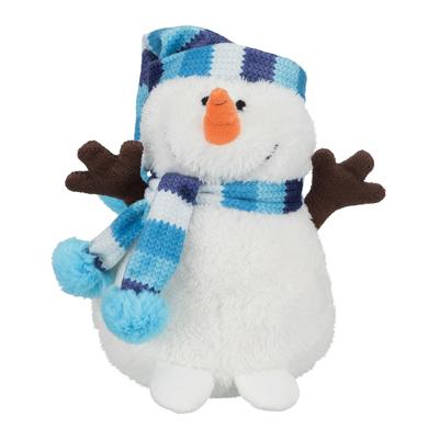 Schneemann mit Pudelmütze Weihnachtsspielzeug für Hunde