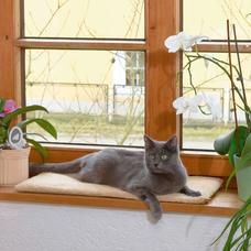 Selbstwärmendes Fensterbankkissen für Katzen