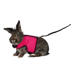 Softgeschirr für große Kaninchen mit Leine