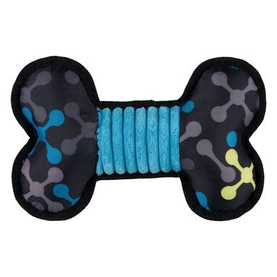 Sporty Knochen aus Stoff Plüsch Hundespielzeug