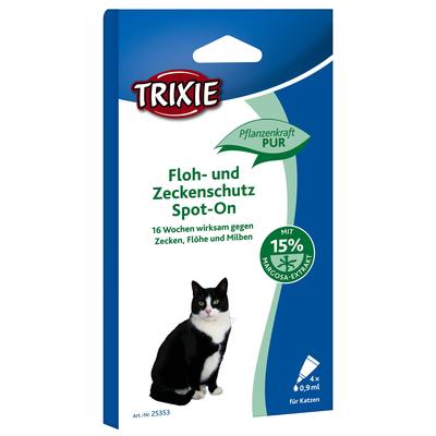 Trixie Spot On Zecken und Flohschutz für Katzen 100% pflanzlich