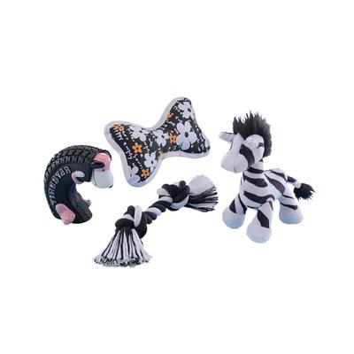 Starter Set 4-teilig Spielzeugmix für Welpen und kleine Hunde