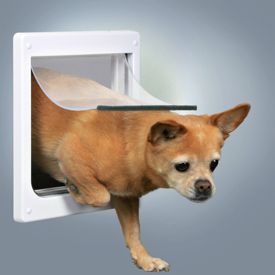 Trixie Hundeklappe mit flexibler Kunststoffklappe