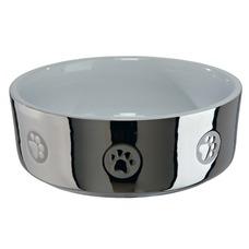 Trixie Hundenapf aus Keramik silber