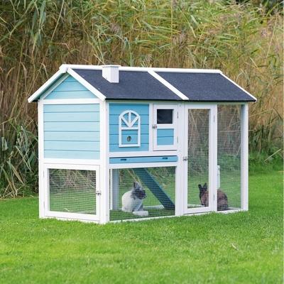 Trixie Natura Kleintierstall 2 Etagen blau weiß