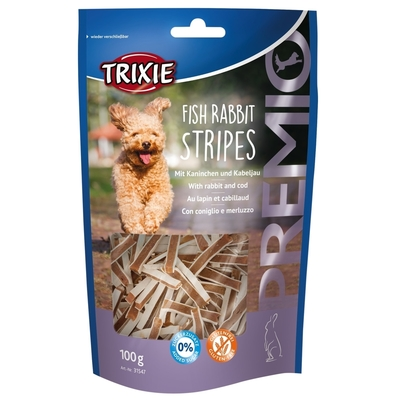 Trixie PREMIO Fish Rabbit Stripes Hundesnacks