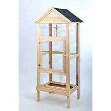 Vogel Holzvoliere mit Bitumen-Dach