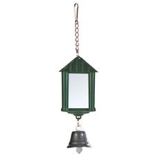 Vogel Spiegelampel mit Glocke und Kette