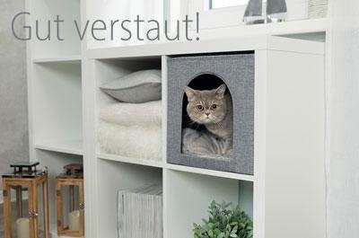 Katzenhöhle für IKEA Regal