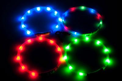 Hunde Leuchthalsbänder